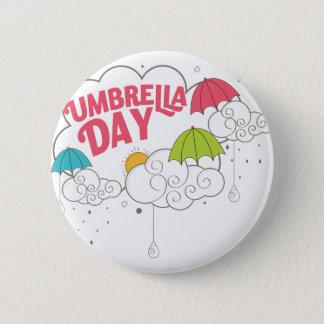 10th February - Umbrella Day - Appreciation Day 6 Cm Round Badge