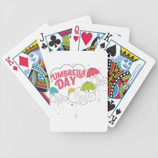10th February - Umbrella Day - Appreciation Day Bicycle Playing Cards