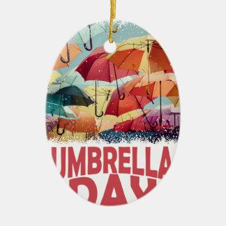 10th February - Umbrella Day - Appreciation Day Ceramic Ornament