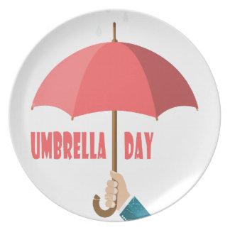 10th February - Umbrella Day - Appreciation Day Plate