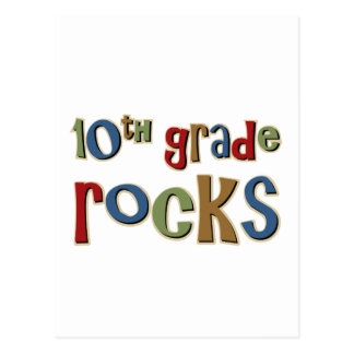 10th Grade Rocks Tenth Postcard