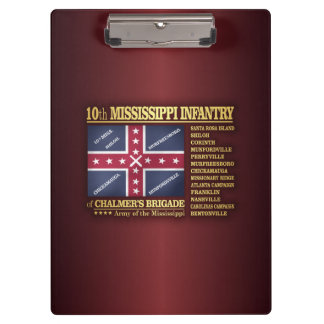 10th Mississippi Infantry (BA2) Clipboards