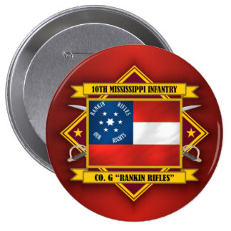 10th Mississippi Infantry (v5) 10 Cm Round Badge