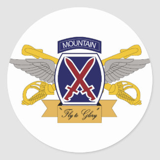 10th Mountain Division Aviation (AVN) Classic Round Sticker