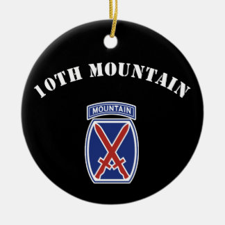 10th Mountain Division Ceramic Ornament
