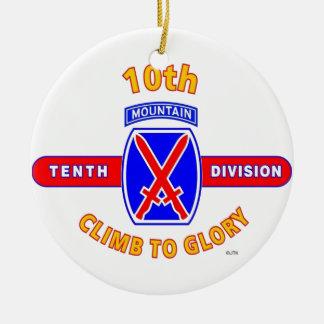 "10TH MOUNTAIN DIVISION ""CLIMB TO GLORY"" CERAMIC ORNAMENT"