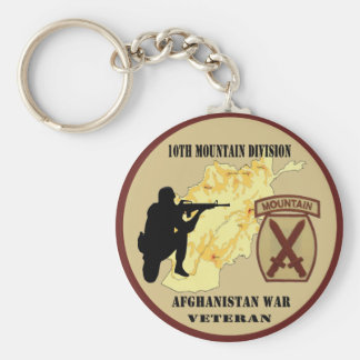 10th Mountain Division Veteran Keychain