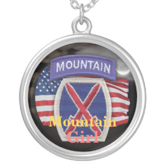 10th Mountain  Division veterans vets girls Neckla Silver Plated Necklace
