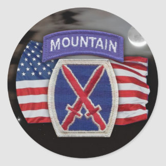 10th mountain patch  scrapbooking veterans iraq  S Round Sticker