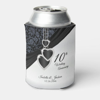 10th Onyx Wedding Anniversary Can Cooler