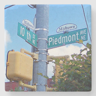 10th Piedmont Midtown, Atlanta Marble Coasters