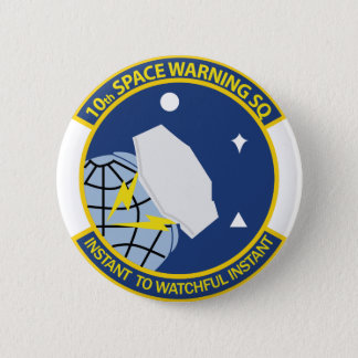 10th Space Warning Squadron 6 Cm Round Badge