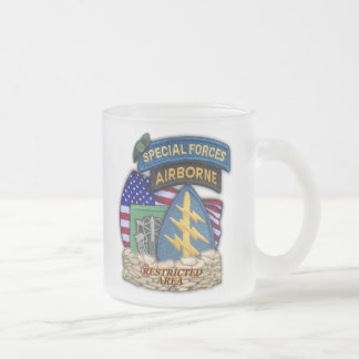 10th Special forces green berets flash frosty mug