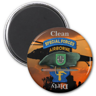 10th Special Forces Group Green Berets SFG SF Vets 6 Cm Round Magnet