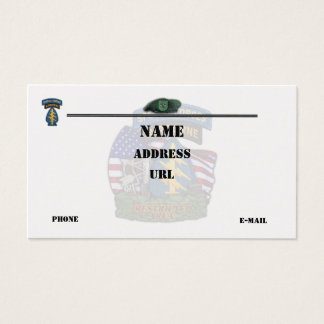 10th special forces patch flash business Cards