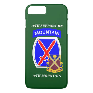 10TH SUPPORT BN 10TH MOUNTAIN iPHONE CASE