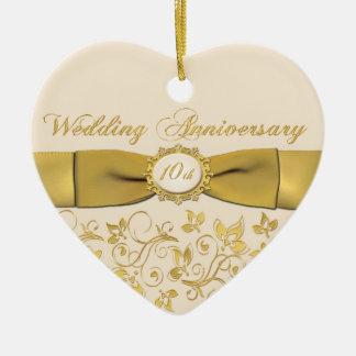 10th Wedding Anniversary Christmas Ornament