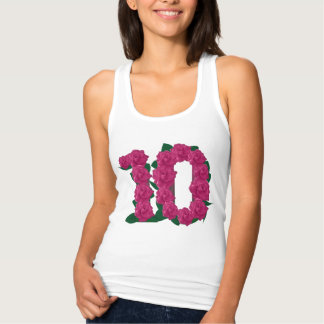 10th wedding anniversary floral T-shirt