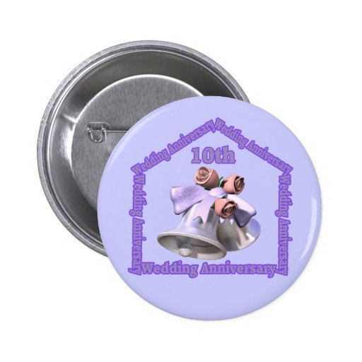 10th Wedding Anniversary Gifts Pins