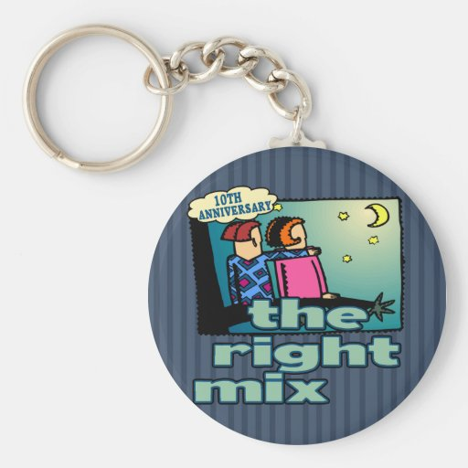 10th Wedding Anniversary Gifts Key Chains