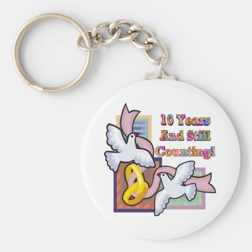 10th Wedding Anniversary Gifts Keychains