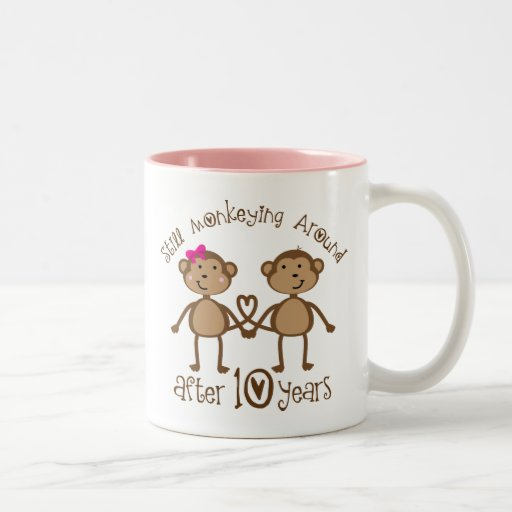 10th Wedding Anniversary Gifts Mugs