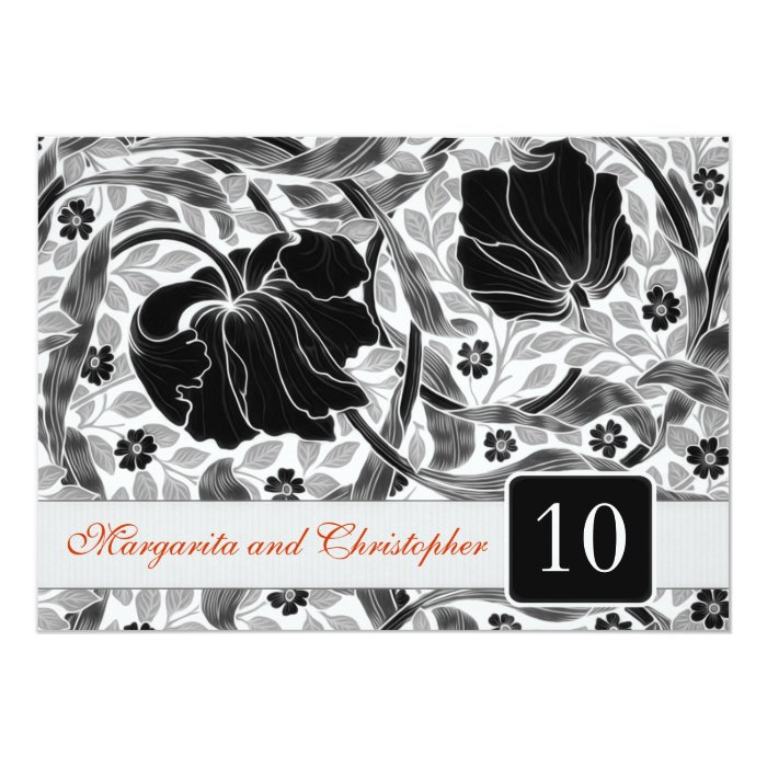 10 Year Wedding Anniversary Invitations: 10th Wedding Anniversary Invitations Damask