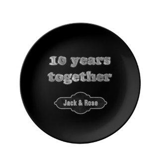 10th Wedding Anniversary Keepsake | 10 Years Chic Plate