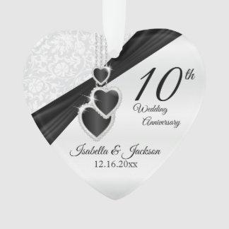 10th Wedding Anniversary Keepsake Design Ornament