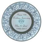 10th Wedding Anniversary Plate