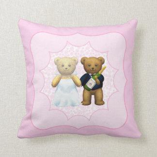 10th Wedding Anniversary Teddy Bear Couple Cushions