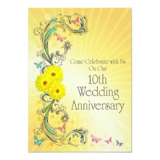 10th Wedding Anniversay Party Invitation