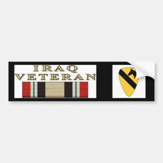 10x10_1stCav-Logo_V01, iraq war Veteran Bumper Sticker