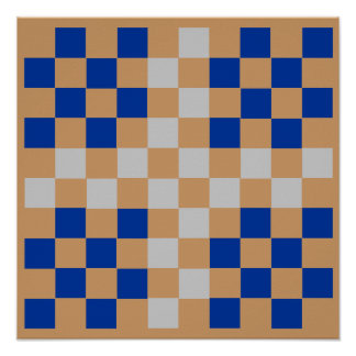 "10x10+ Checkers TAG Board (1-1/4"" fridge magnets) Poster"