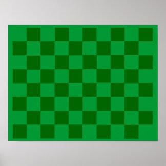 10x8 Soccer Chess TAG Grid (Fridge Magnets) Poster