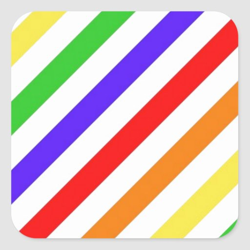 111 COLORFUL RAINBOW STRIPES PATTERN TEMPLATE FUN STICKERS