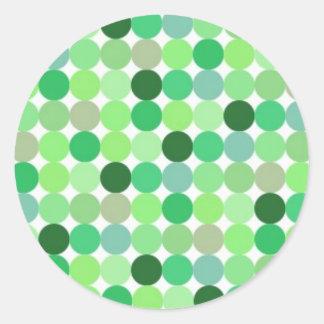 112105 Green disco dots IRISH PATTERN CIRCLES Sticker