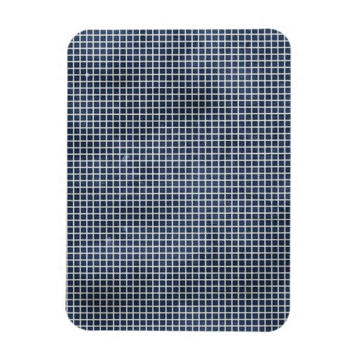 1155 NAVY BLUE GRID PAPER PATTERN TEMPLATE TEXTURE RECTANGLE MAGNET