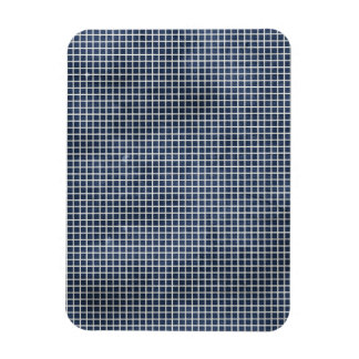 1155 NAVY BLUE GRID PAPER PATTERN TEMPLATE TEXTURE RECTANGULAR PHOTO MAGNET