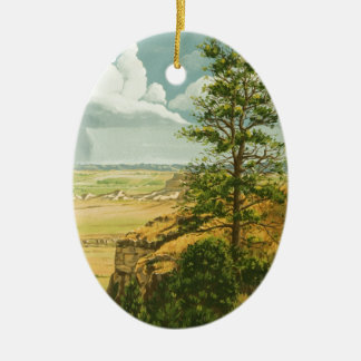 1158 Pine on Scotts Bluff Monument Ceramic Ornament