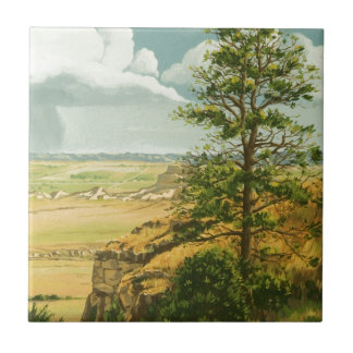 1158 Pine on Scotts Bluff Monument Ceramic Tile