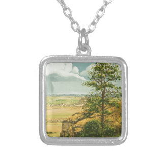 1158 Pine on Scotts Bluff Monument Silver Plated Necklace