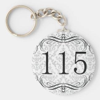 115 Area Code Key Ring