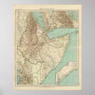 11617 Eritrea, Ethiopia, Somalia Poster