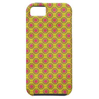 1161_geometric-05 GREENISH YELLOW CLOUDY ABSTRAC iPhone 5 Case