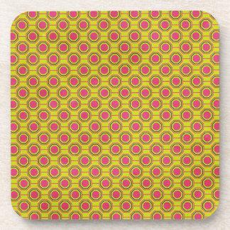 1161_geometric-05 GREENISH YELLOW   CLOUDY ABSTRAC Drink Coasters