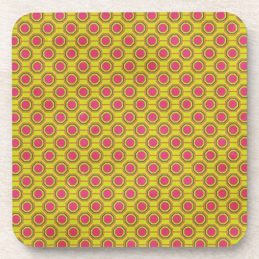 1161_geometric-05 GREENISH YELLOW   CLOUDY ABSTRAC Drink Coasters