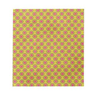 1161_geometric-05 GREENISH YELLOW CLOUDY ABSTRAC Memo Note Pads
