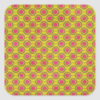 1161_geometric-05 GREENISH YELLOW   CLOUDY ABSTRAC Square Sticker