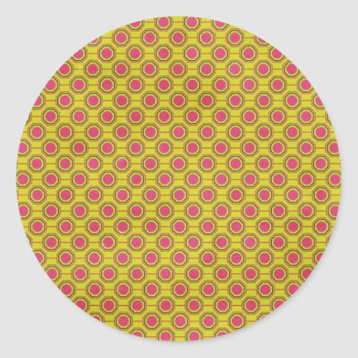 1161_geometric-05 GREENISH YELLOW   CLOUDY ABSTRAC Round Sticker